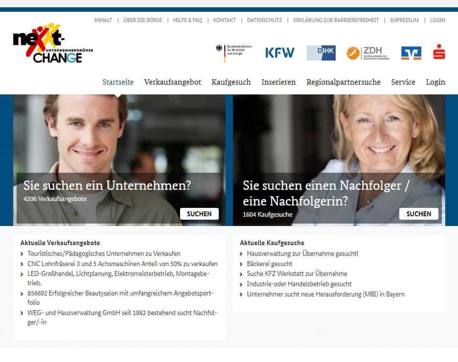 nexxt-change Unternehmensbörse